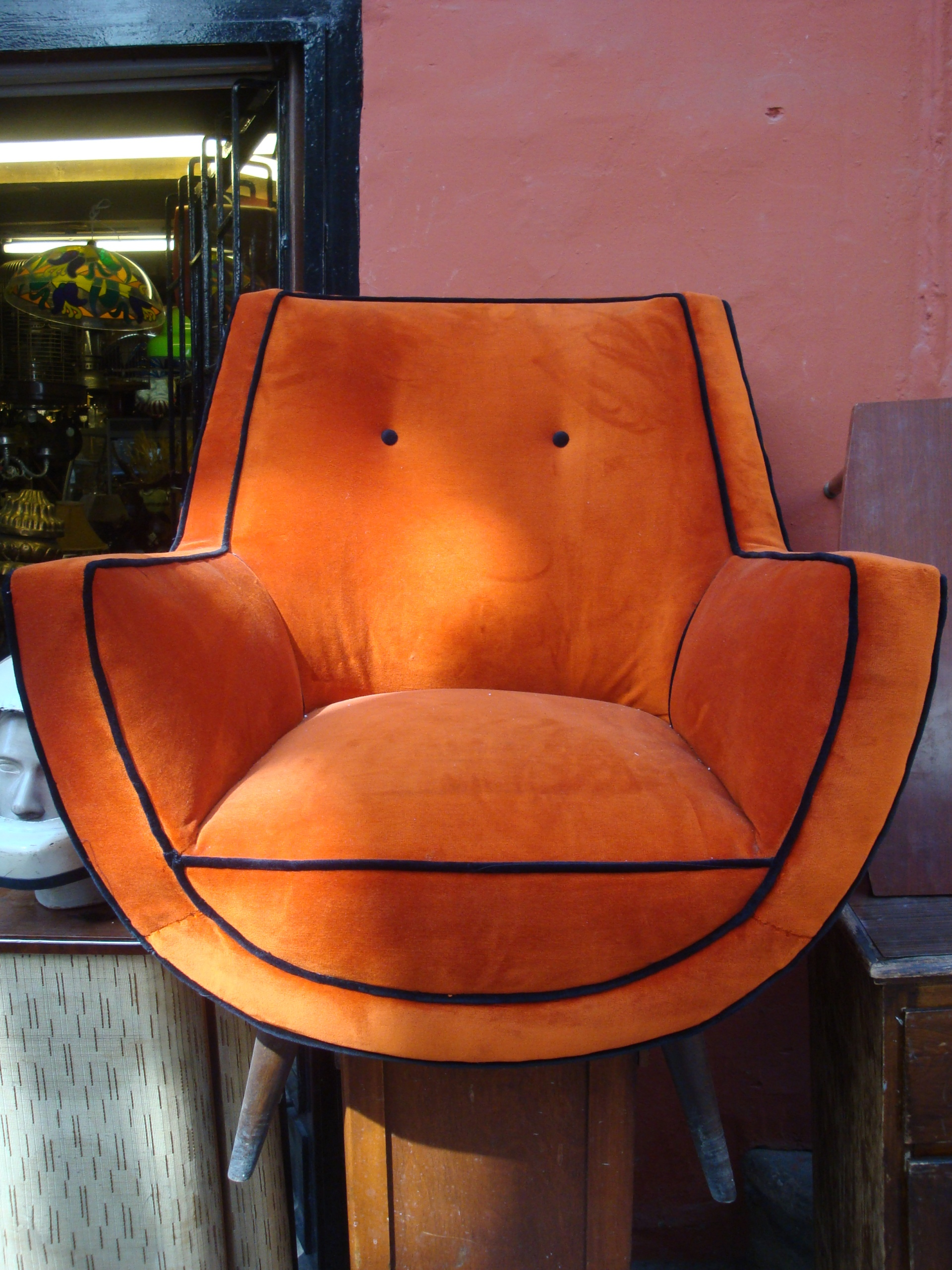 orange vintage coach