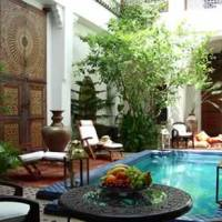 Exotic Design of Riads in old town of Marrakesh