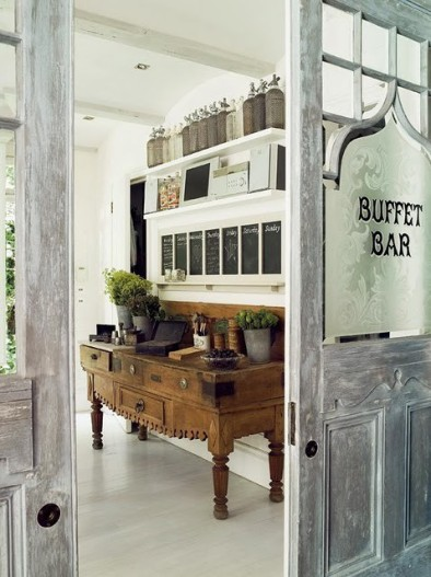vintage buffet bar ideas