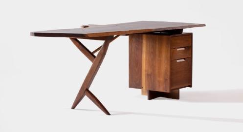 George Nakashima conoid desk