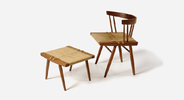 George Nakashima Grass seated chair