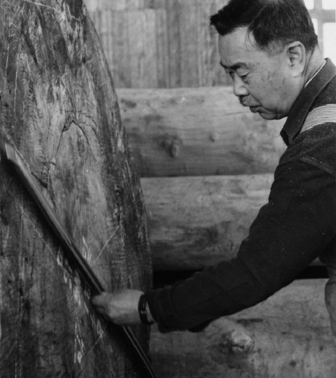 George Nakashima working