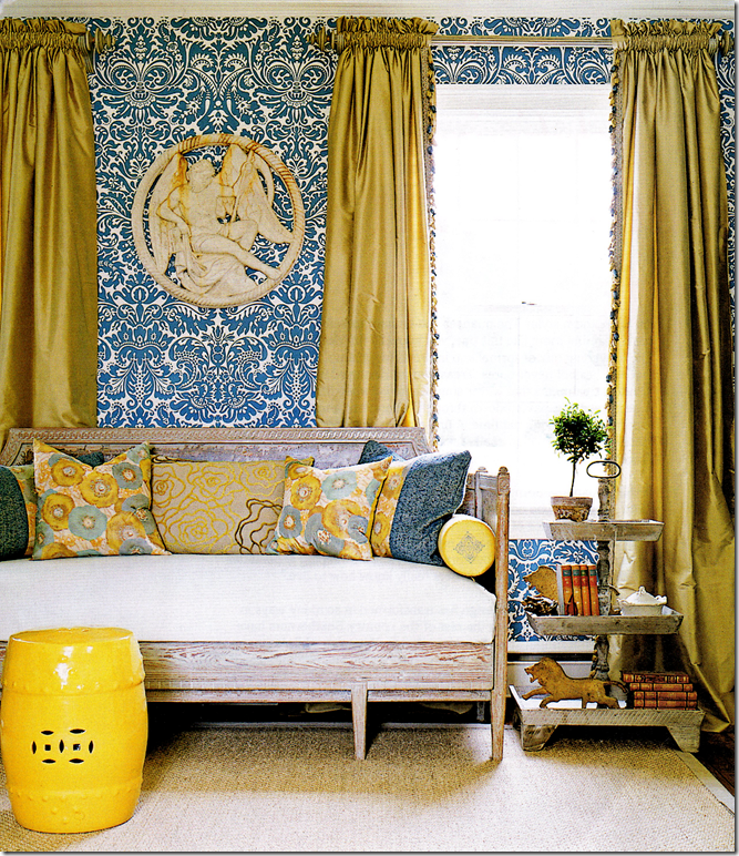 room decorated with strong colors