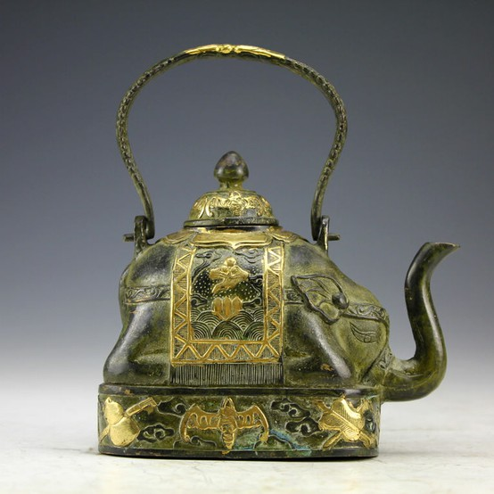 Antique Chinese Elephant Teapot