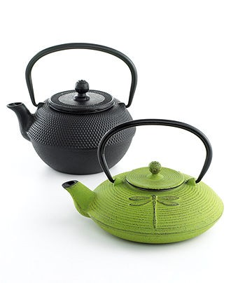 cast iron teapots