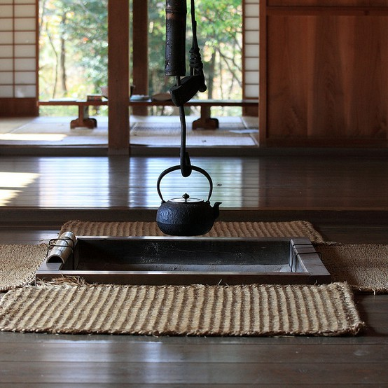 Japon çiftlik evinde geleneksel su kaynatma yöntemi Chiba Prefectuire by Tanaka Juuyoh