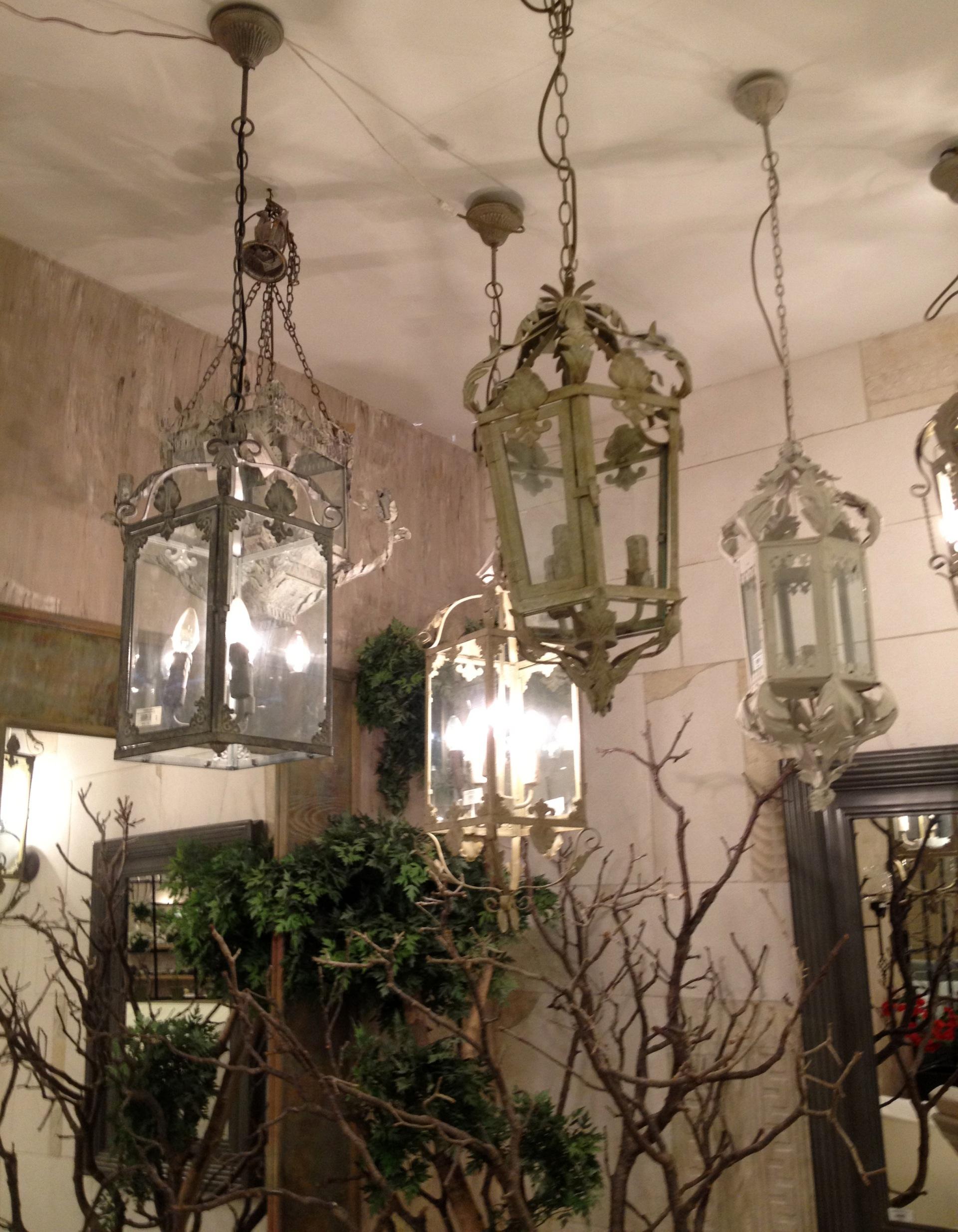 provincial style iron lanterns