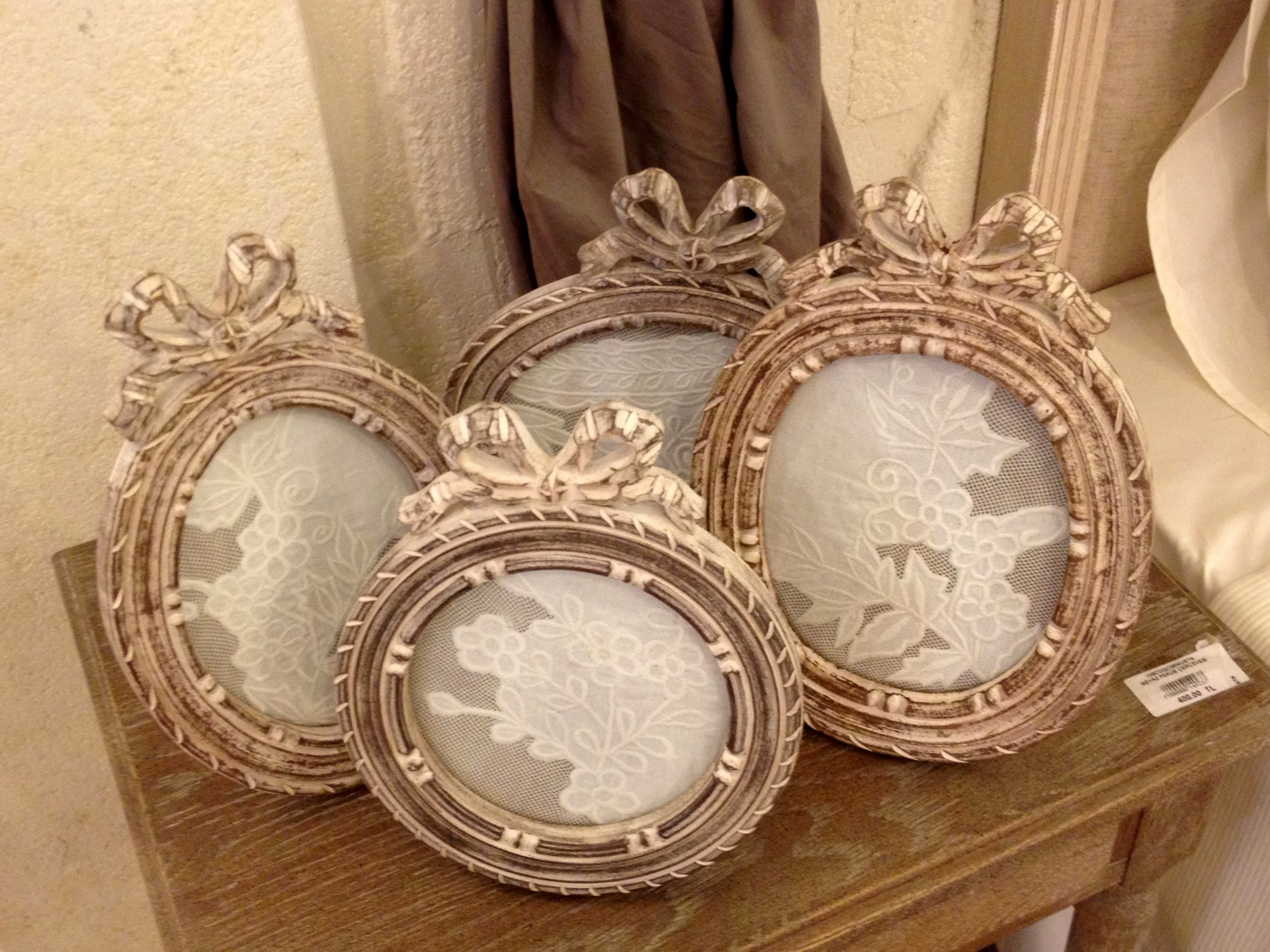 framed lace pieces