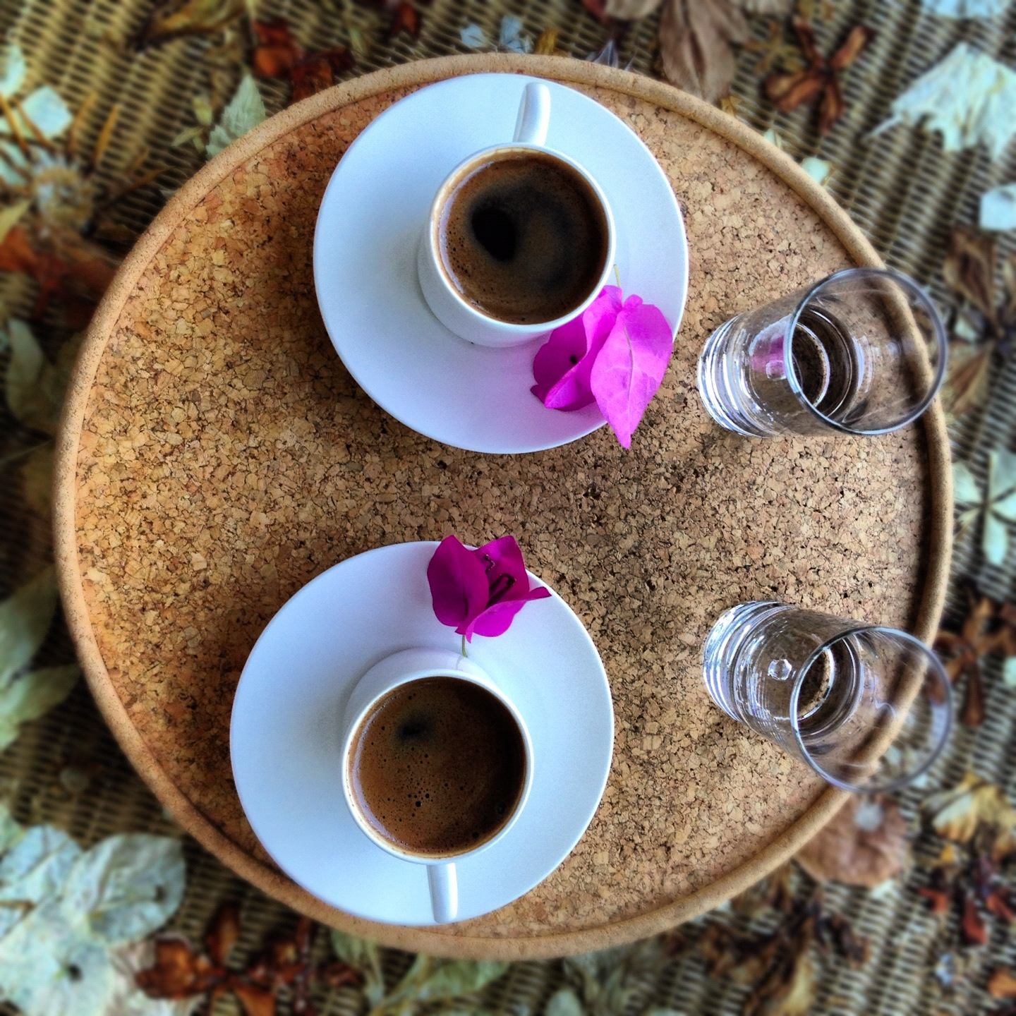 Turkish Coffee and Begonvilles