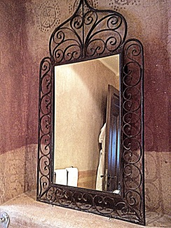 iron mirror frame, decor of Ada Hotel