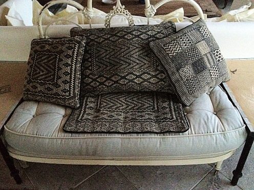 Authentic textiles and kilims