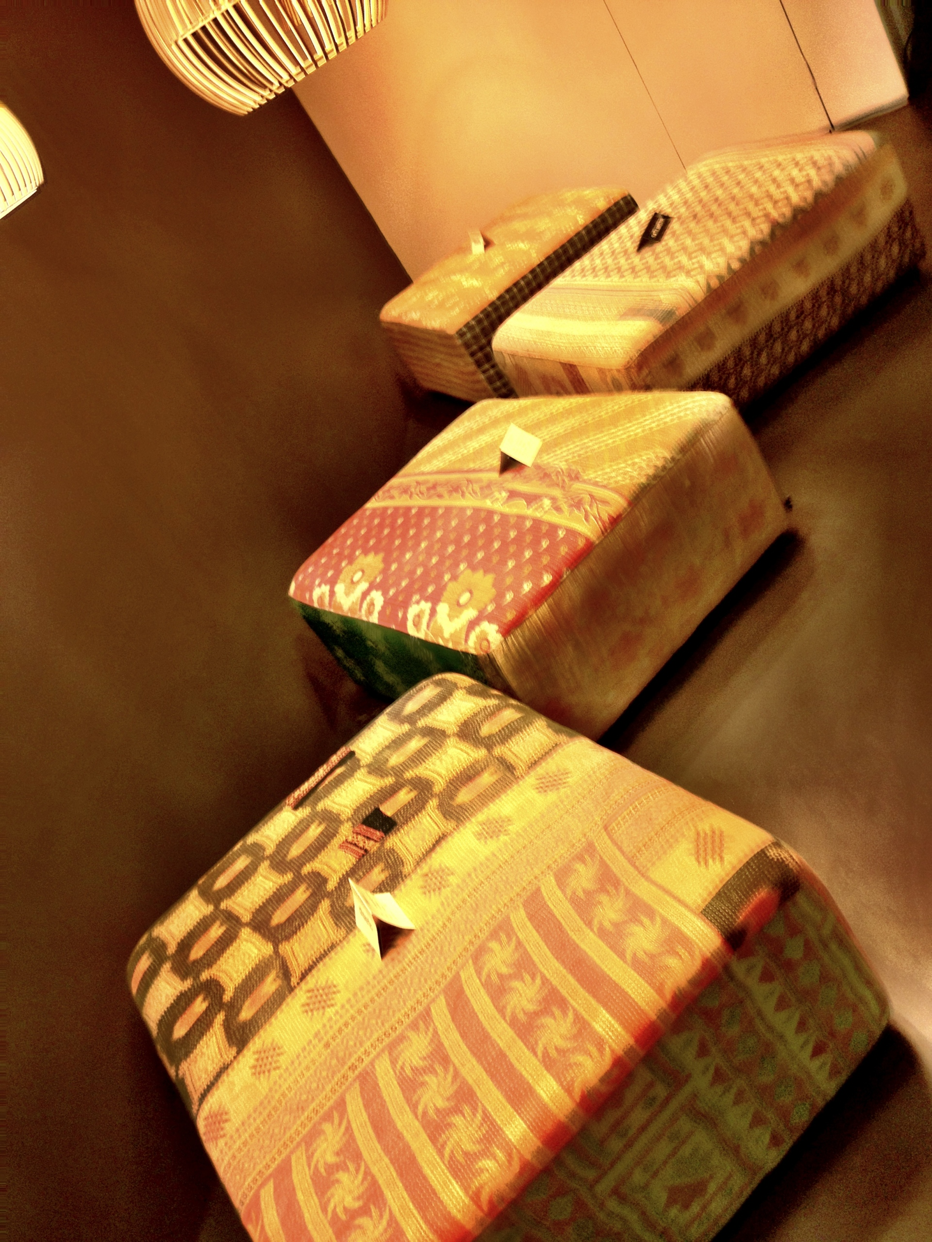 Hay Quilt Ottomans at diseno