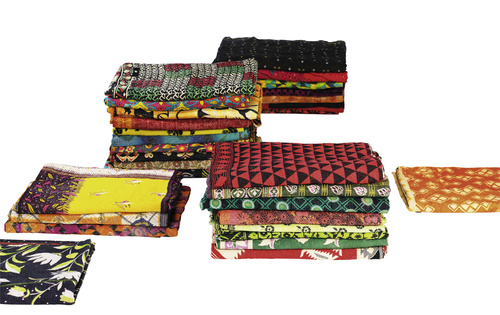 Hay El dokuması Hint yapımı kumaşlar