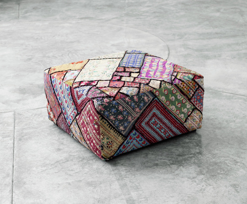 Old patch ottoman from Hay design
