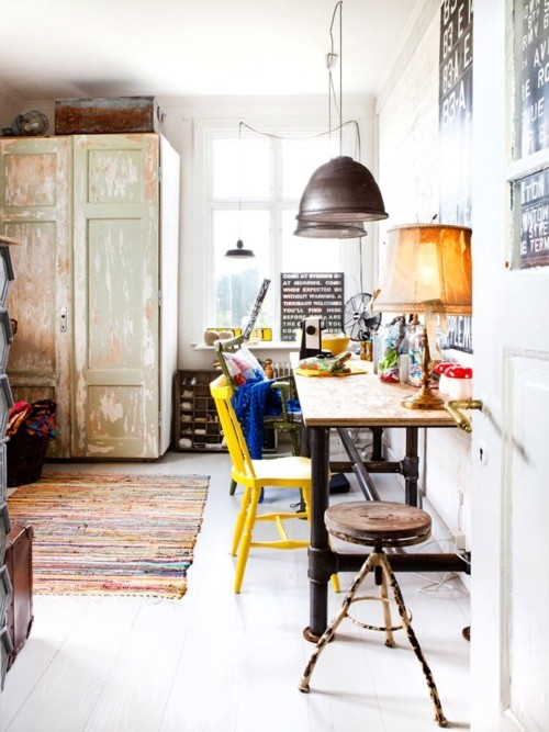 restyling your office by vintage furniture