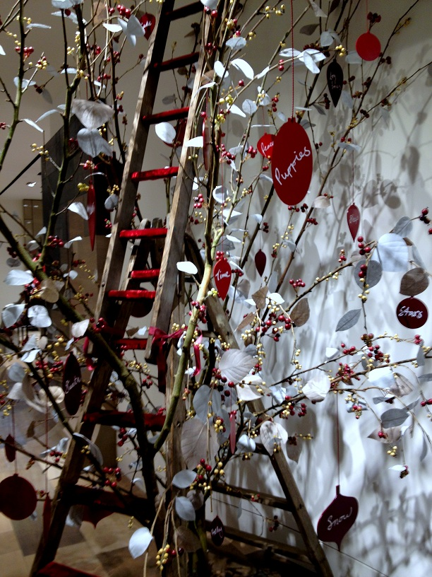 Christmas decor at Selfridge store in London