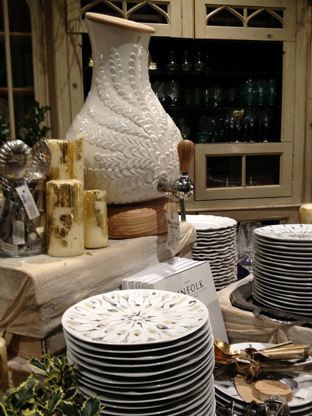Anthropologie Store in London table setting