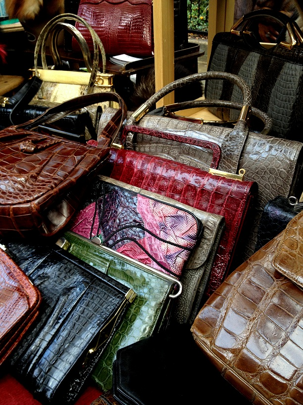 Vintage chrocodile handbags