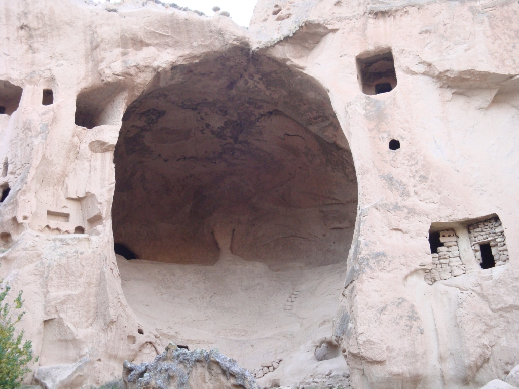 strange shapes of rocky dwellings in Cappodocia
