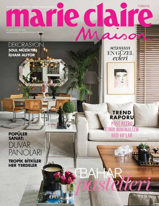 Marie Claire Maison Nisan Sayısı Kapak sayfasi