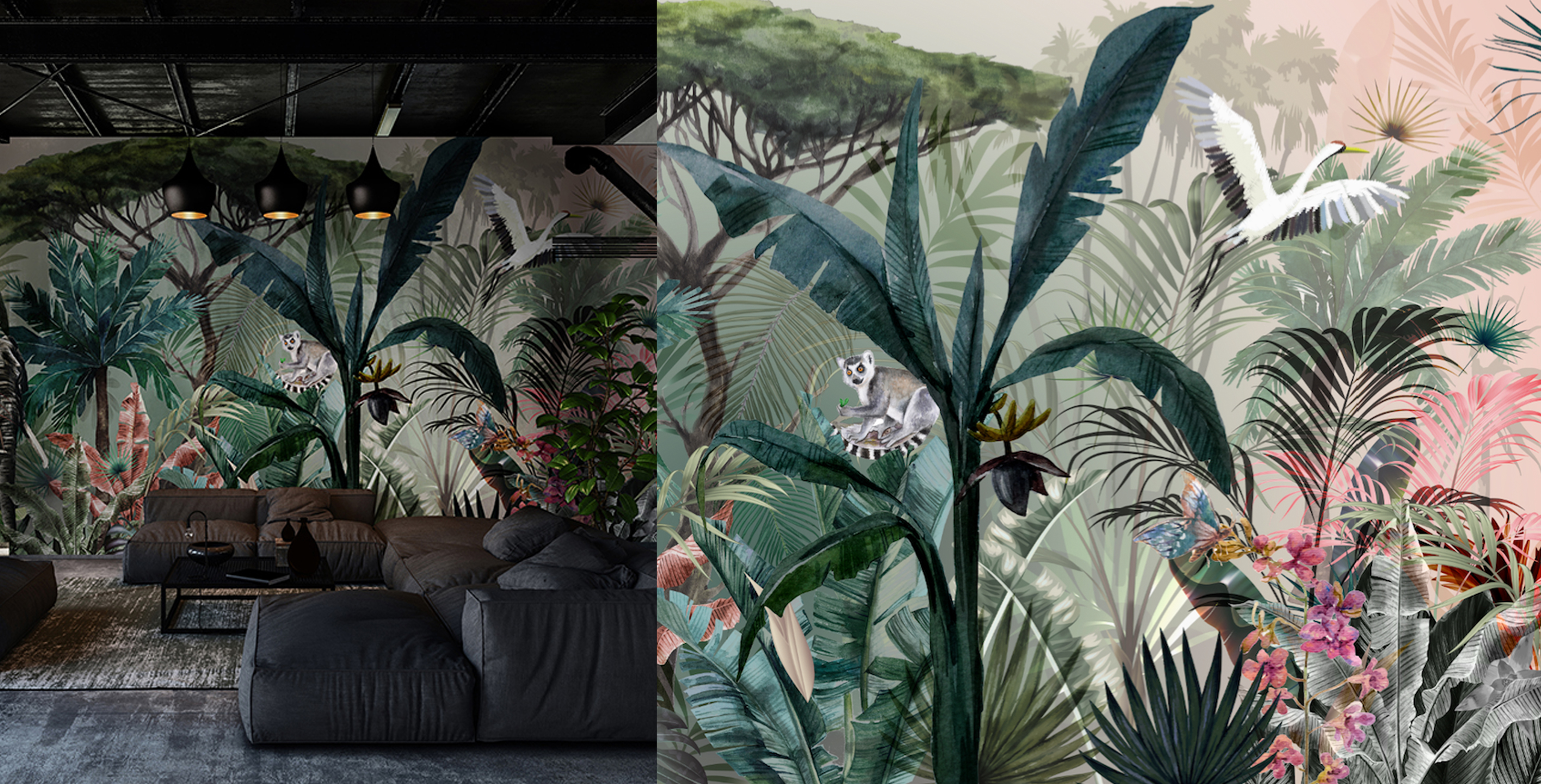 Tropical Decorative wall mural